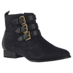 Devote Bootie Black, $61, now featured on Fab.