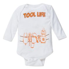 68e4c590 Kids' 12Mos Cotton Tool Life Onesie-1322344-53 - The Home Depot. Funny Baby  ShirtsMini ...