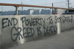 Poverty needs to be resolved because it can lead to more problems such as violence.