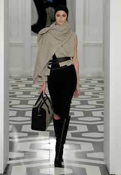 f2835a5e68f75c homemade wrap scarf. stacked braided leather belts. calvin klein leather  skirt. dkny leather