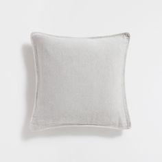 Kissenbezug aus grobem Leinen in Grau mit Tupfen - KISSEN - DEKORATION - Home Collection | Zara Home Deutschland