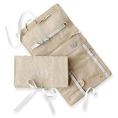 Monogrammed Jewelry Roll | The perfect place to store all of her baubles. | SouthernLiving.com