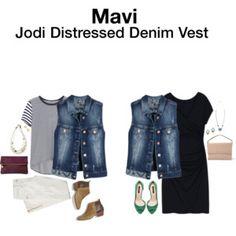 Mavi Jodi Distressed Denim Vest
