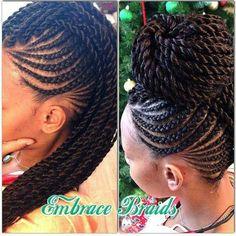 Braided hair style African American hair