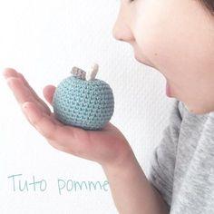 tuto pomme au crochet #tutocrochet #diycrochet #crochet #virka #ganchillo #apple #pomme #tutoamigurumi