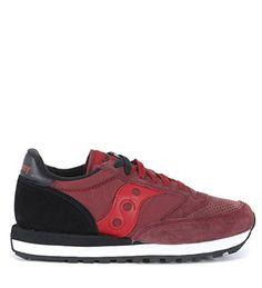 Saucony Sneakers Jazz O' Heel aus Veloursleder in Bordeauxrot - http://on-line-kaufen.de/saucony/saucony-sneakers-jazz-o-heel-aus-veloursleder-in