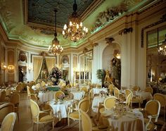 The Palm Court at The Ritz, set for afternoon tea.  Google Image Result for http://www.ellecanada.com/blog/wp-content/uploads/2012/05/Ritz_hightea.jpg