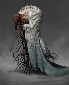 ArtStation - Monk of the Church of the Metamorphosis, mike franchina This reminds me of the creature in the bedroom in M.R James' story, The residene at Whitminster. Monster Art, Monster Concept Art, Fantasy Monster, Monster Design, Alien Concept Art, Arte Horror, Horror Art, Creature Feature, Creature Design