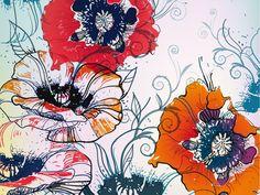 Fotomural a medida Un motivo floral delicado