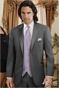 Steel Grey Jean Yves Steel Grey Tuxedo rental @ Jos. A Bank for $169 @Christine Julia