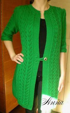 Сногшибательный кардиган Knit Cardigan Pattern, Crochet Cardigan, Knit Crochet, Knitting Charts, Knitting Patterns, Sweater Fashion, Cardigans For Women, Knitwear, Sewing