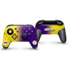 Wario Bros Switch Pro Controller Skin #nintendo #nintendoswitch #wario #waluigi #skin #wrap