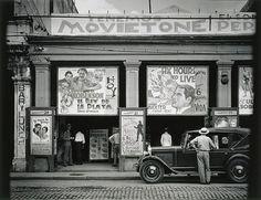 'Cine', serie La Habana (1933). By Walker Evans