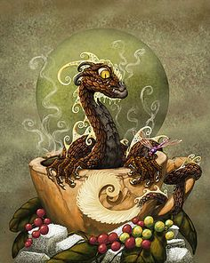 Coffee Dragon by Stanley Morrison
