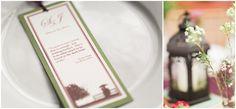 Wedding bookmark favor; nerdy wedding; wedding reception decor; lantern centerpiece; book centerpiece; wedding centerpiece; literature quote bookmark.  From our photographer's blog entry about our wedding.  Dan & Erin PhotoCinema.