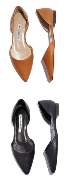 d'Orsay flats by Manolo Blahnik