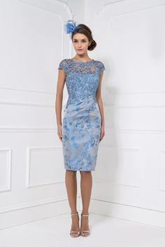 John Charles short lace dress and bolero 74173 |