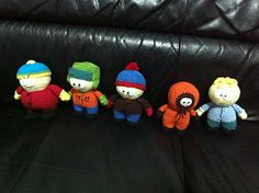 Here is the pattern I created to make Butters, Kenny, Kyle, and Stan from South Park.