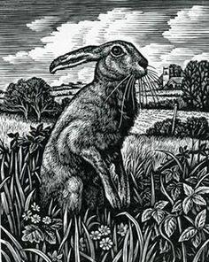 Hare - Woodblock