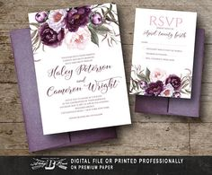 Hey, I found this really awesome Etsy listing at https://www.etsy.com/listing/526044178/rustic-wedding-invitation-set-flowers