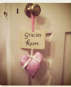 Heart bedroom door hanger