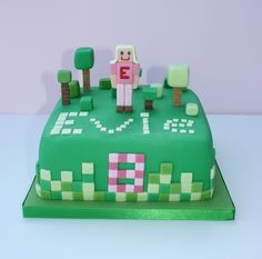 How+to+make+a+Minecraft+cake+for+a+gorgeous+girl+