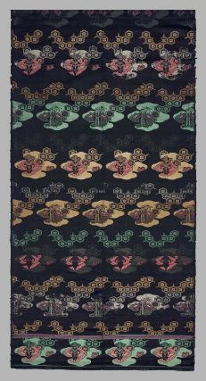 [open Obi] Textile  Japanese, Overall (Full loom width) 164 1/2 x 27 1/2 in, Brocade, MFA. Much of Bigelow's collection of Asian art was formed during his residence in Japan between 1882 and 1889, although he also made acquisitions in Europe and the United States. Bigelow deposited many of these objects at the MFA in 1890 before donating them to the Museum's collection at later dates.