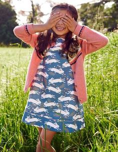 Coastal Blue Country Hare Pretty Printed Dress