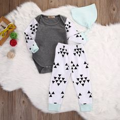 >> Click to Buy << New Arrival Girl Boys Clothing Newborn Boy Girls Tops Romper Pants 3pcs Baby Coming Home Outfits Set USA Seller #Affiliate