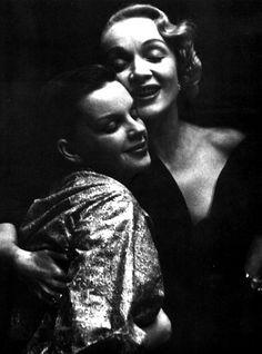 LA DIETRICH con Judy Garland.