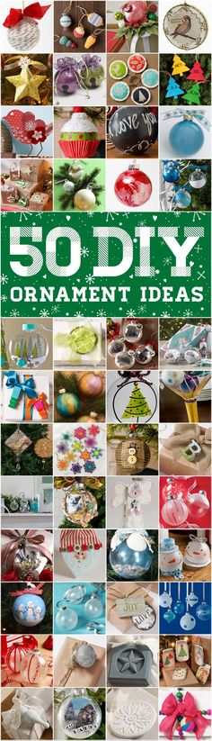 50 Top DIY Ornament Ideas for the Holidays! Get ready for the best Christmas Tree ever!