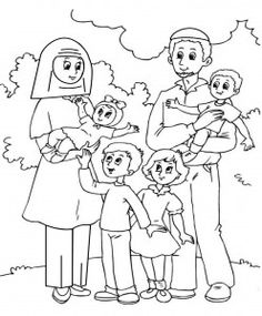 Color a Muslim Family