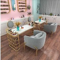 Nordic Marble Nail Table Shop Decoration Table And Chair Set Single Double People Manicure Table Manicure Table Simple And Moder Home Beauty Salon, Home Nail Salon, Nail Salon Design, Nail Salon Decor, Beauty Salon Decor, Salon Interior Design, Nail Salon Chairs, Manicure Station, Nail Station