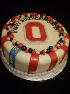 Ohio State (vs. Michigan) Cake