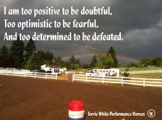 to positive to be doubtful