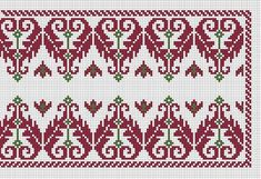 Folk Embroidery, Embroidery Patterns, Machine Embroidery, Cross Stitch Designs, Cross Stitch Patterns, Antique Quilts, Arts And Crafts Movement, Needle And Thread, Needlework