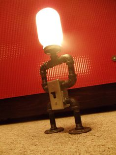 Industrial Lamp w/ Switch Robo-Lamp by DowntownHomemades on Etsy