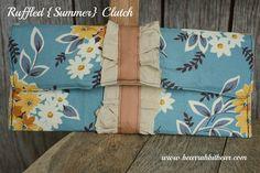 The Ruffled {summer} Clutch