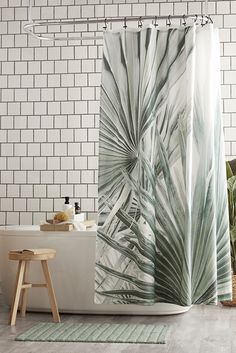 Designed with a super tropical feel, this machine washable and dryable shower curtain will help you achieve that laid-back spa vibe you crave. Style your decor with matching towels and accessories to draw on this trending pattern. Bathroom Collections, Shower Curtains, Towels, Sweet Home, Tropical, Urban, Pattern, Accessories, Ideas