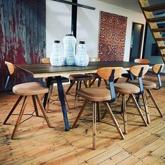 Route dining table with Theo dining chairs designed by District Eight Design…