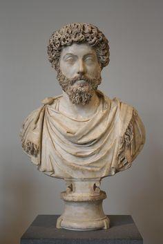 Marble portrait bust of Marcus Aurelius Roman, Antonine, ca. Ancient Rome, Ancient Art, Ancient Greek, Roman History, Art History, Old Portraits, Roman Art, Metropolitan Museum, Art And Architecture