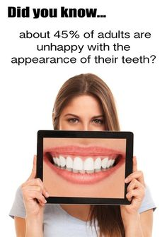 Dentaltown - Did you know about 45% of adults are unhappy with the appearance of their teeth?