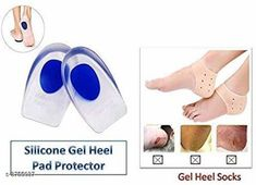 Orthopedics Silicone Gel Socks & Silicone Gel Shoe Pad, Combo Product Name: Silicone Gel Heel Pad - Combo Pack Material: Silicone Size: Free size Description: It Has 2 Pack Of Gel Heel Pad Country of Origin: India Sizes Available: Free Size   Catalog Rating: ★4 (455)  Catalog Name: Premium Choice Personal Care Products Vol 1 CatalogID_525543 C125-SC1569 Code: 972-3755037-075
