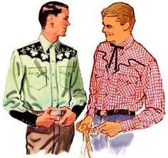 1950s style men's western wear