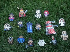 New! Huge Doctor Who Inspired Perler Set: Magnets, Ornaments, Wall Décor - Includes River Song, Amy Pond, Centurion Rory, Martha Jones, Donna Noble, Dalek. Cyberman, Blon Slitheen, Jamie (the empty child), Sontaran, Ood, Adipose, 3 doctors, and the Tardis! on https://www.etsy.com/listing/156296109/doctor-who-inspired-perler-magnets