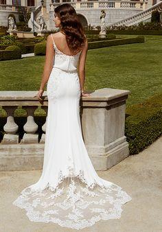 Blue by Enzoani Ibarra Sheath Wedding Dress