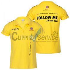 Freisteller Werbe T-Shirt mit Aufdruck gelb