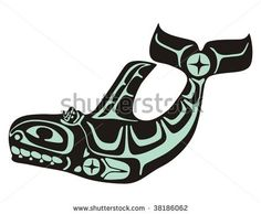 Royalty Free Stock Photos and Images: Native Whale Vector ...
