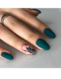 140 flowers nails design trends for spring – page 1 Cute Acrylic Nails, Cute Nails, Gel Nails, Stiletto Nails, Manicures, Coffin Nails, Stylish Nails, Trendy Nails, Emerald Nails