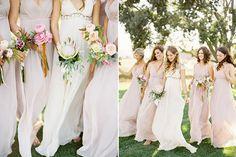 Love this look boho style Blush Bridesmaid Dresses, Brides And Bridesmaids, Wedding Dresses, Bridesmaid Ideas, Pastel Bridesmaids, Blush Dresses, Bridesmaid Flowers, Dresses Uk, Pretty Dresses